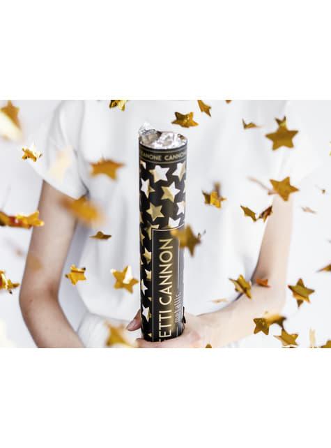 Confetti Cannon with Gold Stars, 40cm