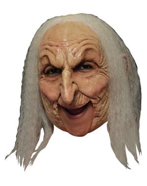 Latexová maska stará čarodějnice deluxe