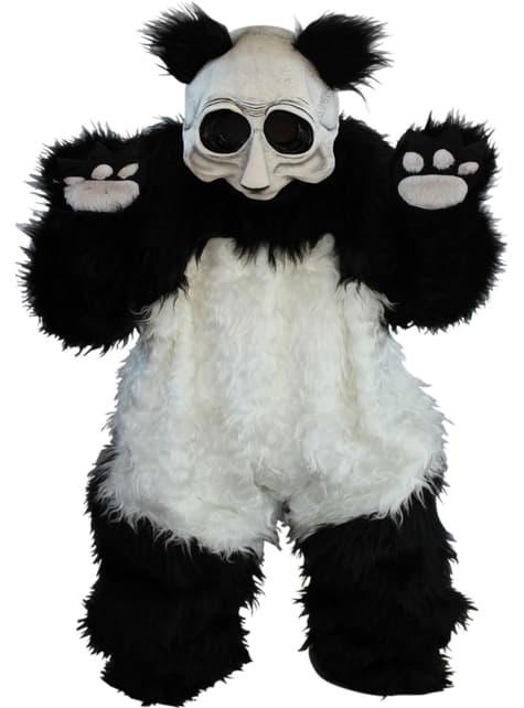 Ondsindet panda kostume