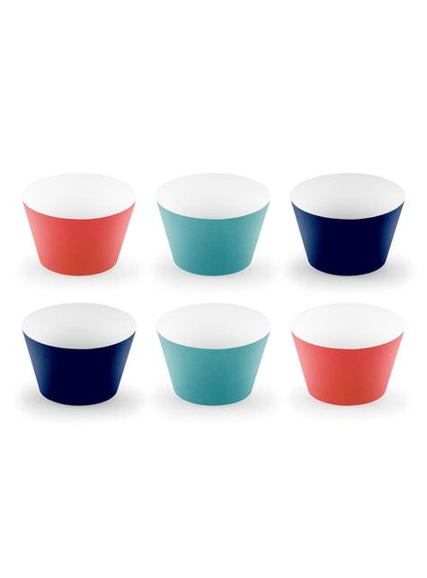 6 cápsulas para cupcakes del espacio variados de papel - Space Party - comprar