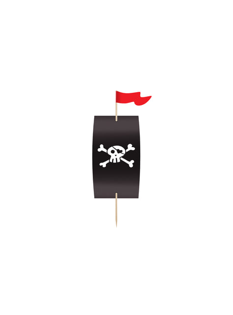 6 Pirate Paper Cupcake Wrappers, Assorted - Pirates Party