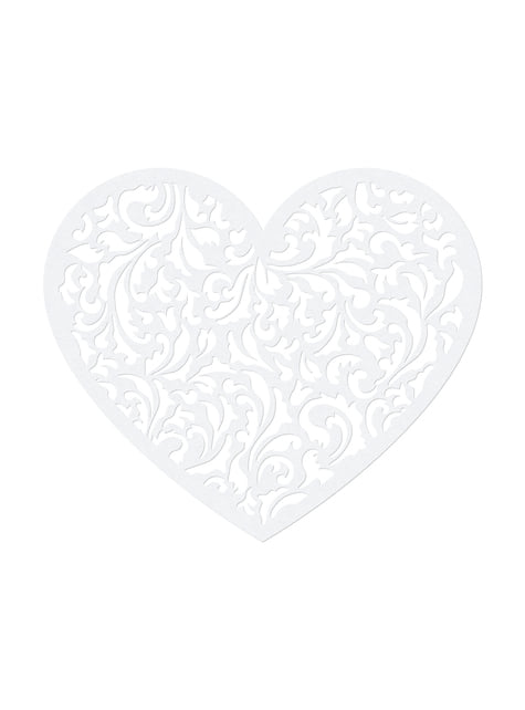 10 cœurs blanches pour la table