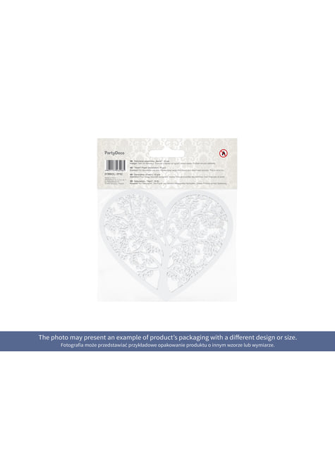 10 cœurs blanches avec arbre pour la table