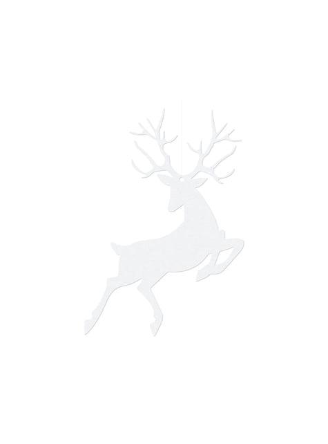 10 decoraciones para mesa blancas de reno - Christmas