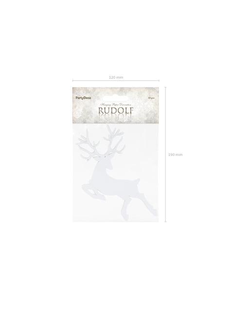 10 decoraciones para mesa blancas de reno - Christmas - barato