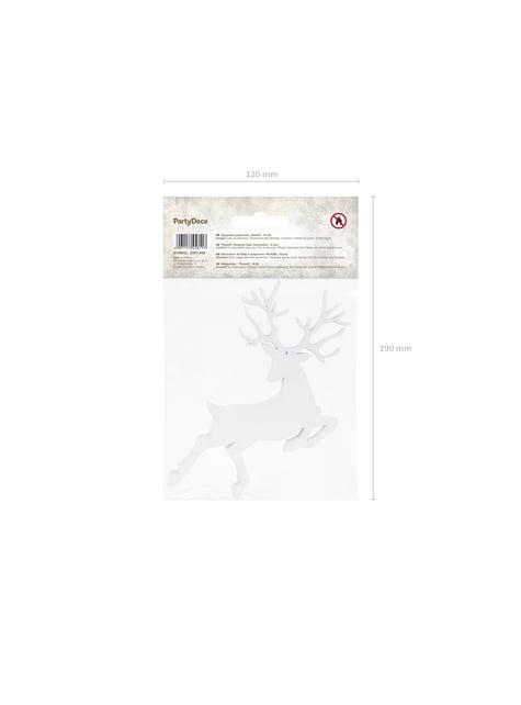 10 décorations de table blanches de renne - Christmas