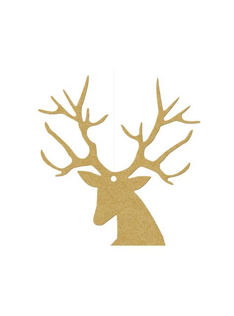10 decoraciones para mesa doradas de reno - Christmas - para tus fiestas