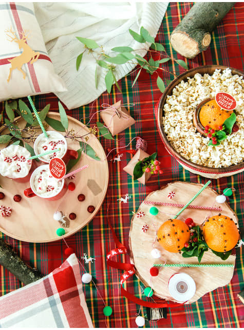 10 decoraciones para mesa doradas de reno - Christmas - comprar