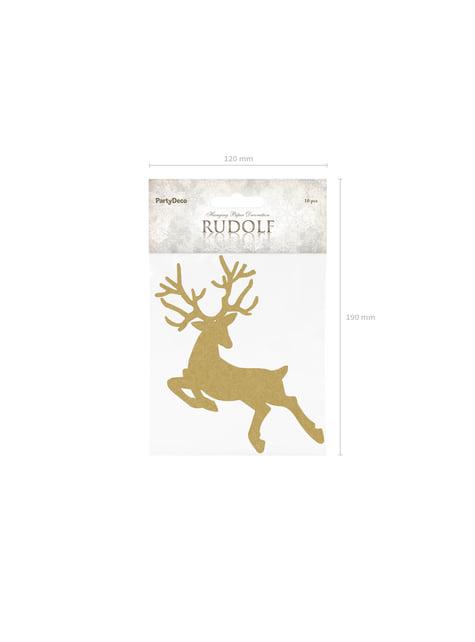 10 decoraciones para mesa doradas de reno - Christmas - para niños y adultos