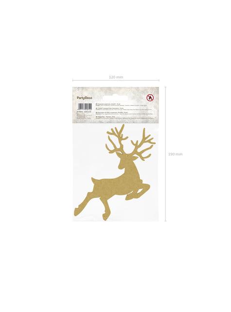 10 decoraciones para mesa doradas de reno - Christmas - original