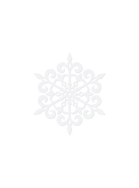 10 decoraciones para mesa blancas de copo de nieve redondo (11 cm) - Christmas