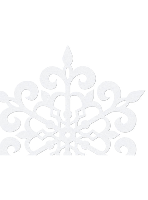 10 pyöreää lumihiutale pöytäkoristetta, valkoinen 11cm - Christmas