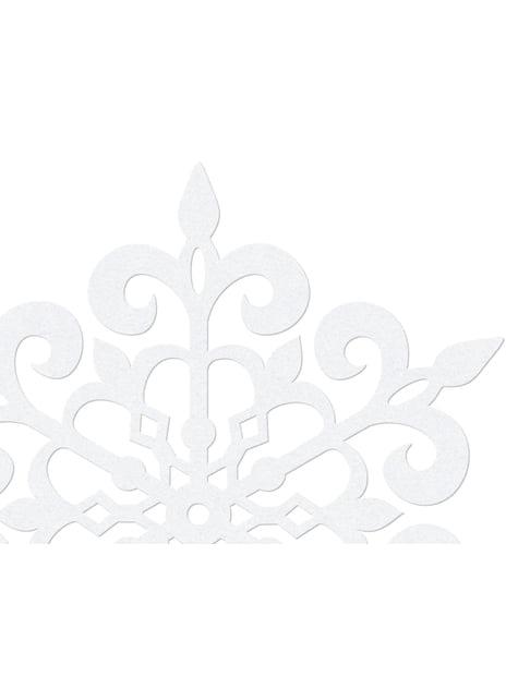 10 decoraciones para mesa blancas de copo de nieve redondo (13 cm) - Christmas - para tus fiestas