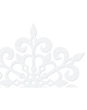 10 decoraciones para mesa blancas de copo de nieve redondo (13 cm) - Christmas