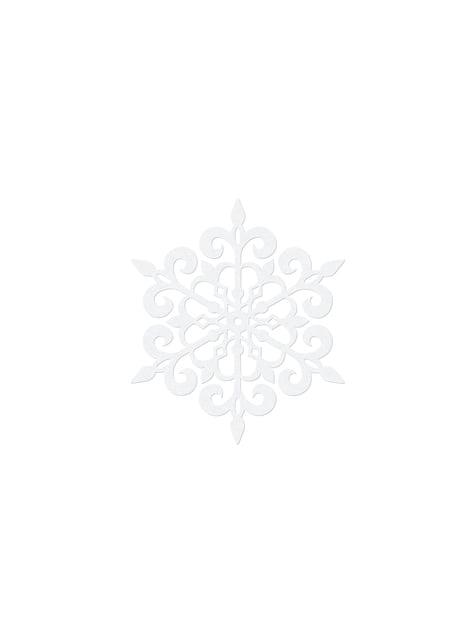10 décorations de table blanches flocon de neige rond de 9 cm - Christmas
