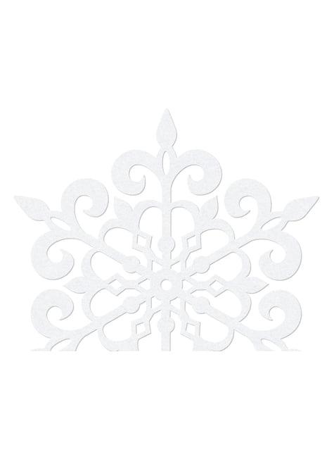 10 pyöreää lumihiutale pöytäkoristetta, valkoinen 9cm - Christmas