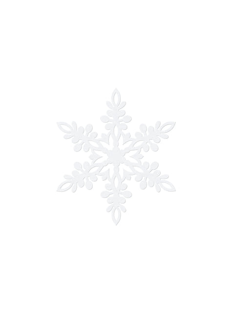 10 decoraciones para mesa blancas de copo de nieve (11 cm) - Christmas