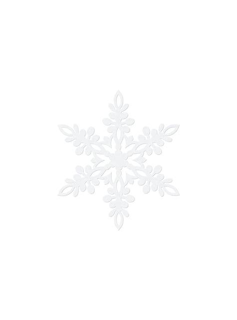 10 décorations de table blanches flocon de neige de 11 cm - Christmas