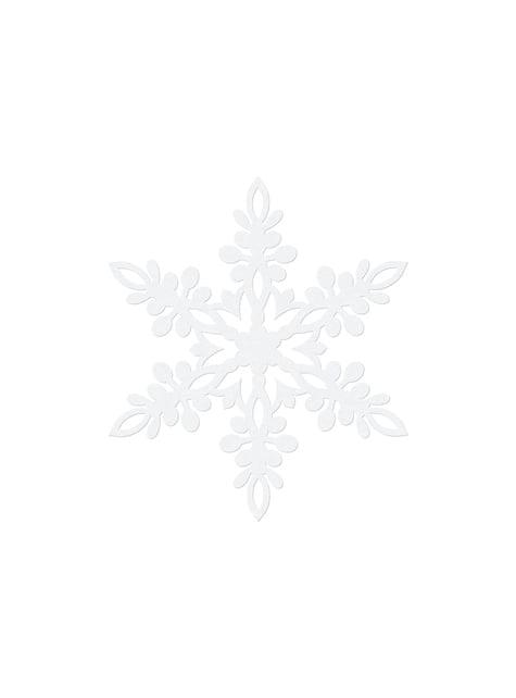 10 decoraciones para mesa blancas de copo de nieve (13 cm) - Christmas