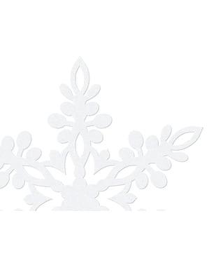 10 decorazioni da tavola bianche a forma di fiocco di nev (13 cm) - Christmas