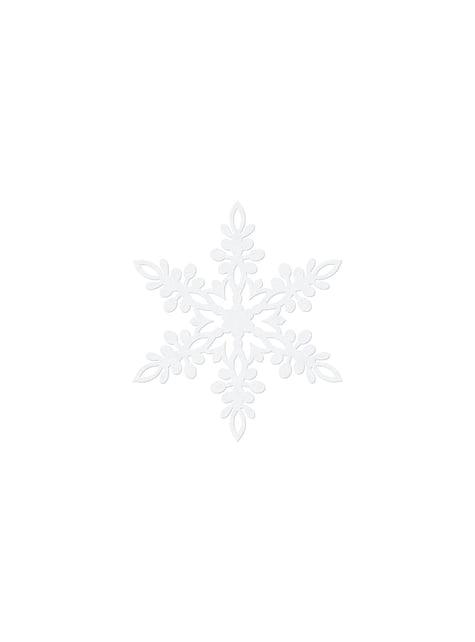 10 decoraciones para mesa blancas de copo de nieve (9 cm) - Christmas