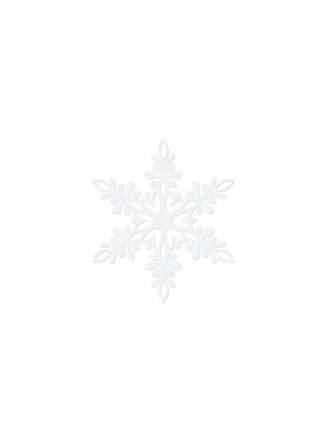 10 décorations de table blanches flocon de neige de 9 cm - Christmas