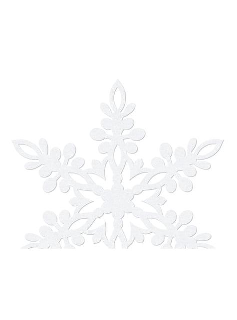 10 decoraciones para mesa blancas de copo de nieve (9 cm) - Christmas - para tus fiestas