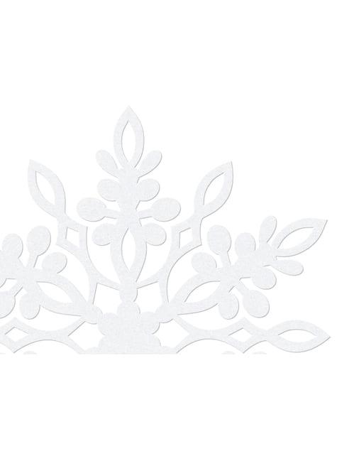 10 tuplalumihiutale pöytäkoristetta, valkoinen 13cm