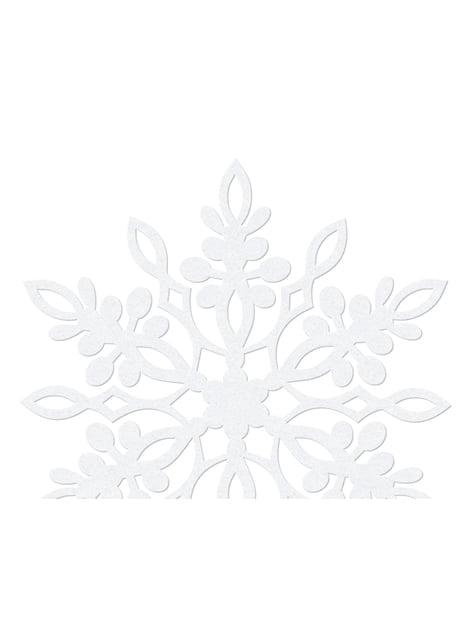10 decoraciones para mesa blancas de copo de nieve con doble punta (9 cm) - para tus fiestas