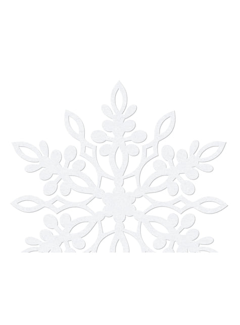 10 décorations de table blanches en flocon de neige blanc avec double pointe  de 9 cm