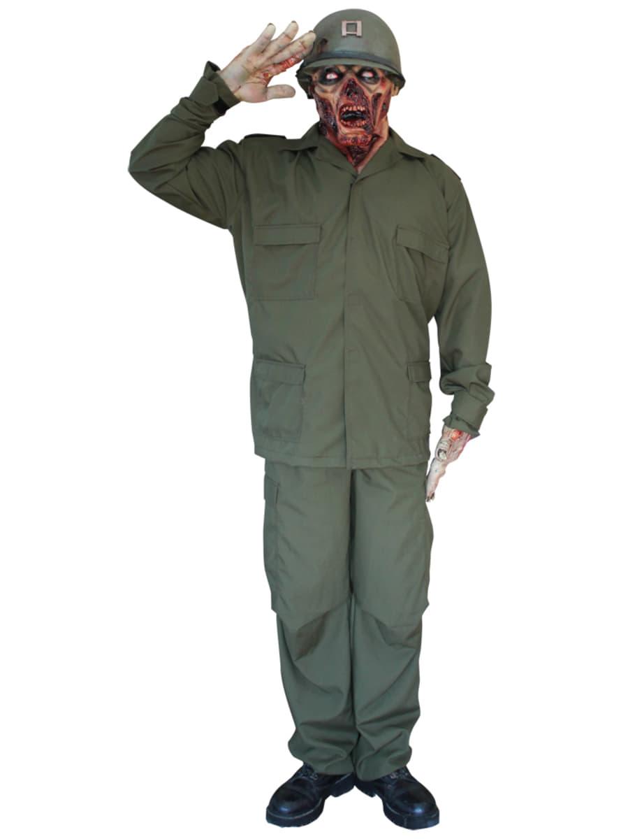 zombie soldaten kost m deluxe funidelia. Black Bedroom Furniture Sets. Home Design Ideas