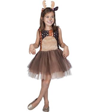 Sjovt Rensdyr Kostume til Piger