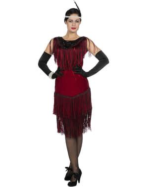 Disfraz de charlestón Años 20 rojo para mujer