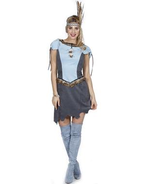 Kostým indiánka pro ženy modrý