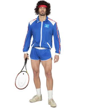 80s Tennis Player Kostyme til Menn
