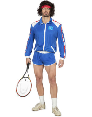 Maskeraddräkt tennisspelare 80-tal vuxen