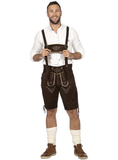 Disfraz de tirolés marrón para hombre