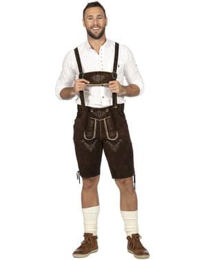 Tyrolský kostým pro muže hnědý