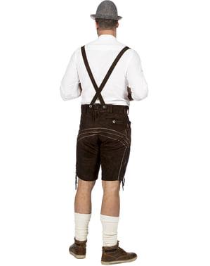 Brązowe Spodnie Lederhosen dla mężczyzn