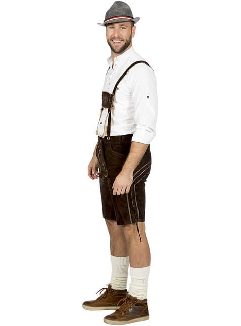 Disfraz de tirolés marrón para hombre - original