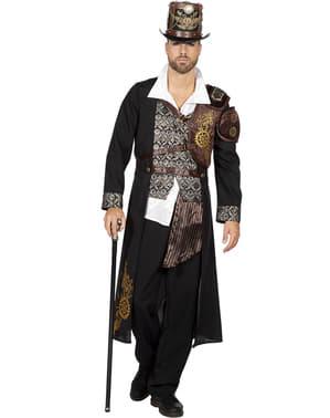 Steampunk vesta pro muže hnědá