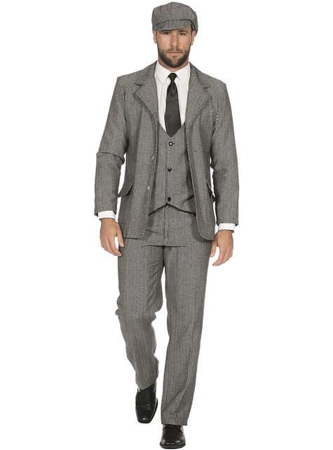 Irish Gangster Jacket for Men in Grey