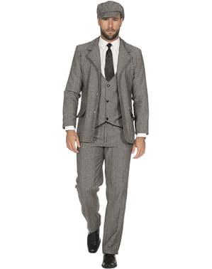 Jachetă de mafiot irlandez gri pentru bărbat