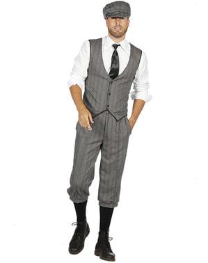 Gangster kostyme grå