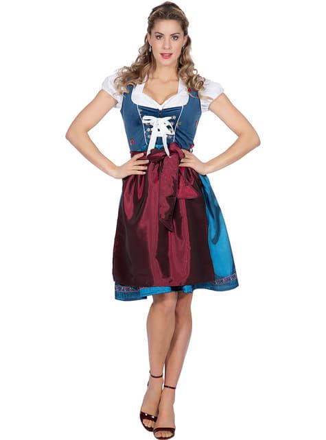 Oktoberfest Austrian Costume for Women in Blue