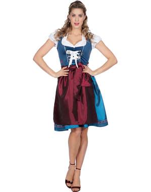 Rakouský kostým Oktoberfest pro ženy modrý