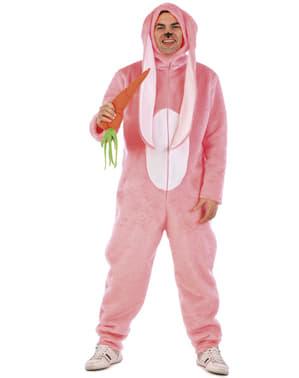 Costume coniglio dalle grandi orecchie adulto