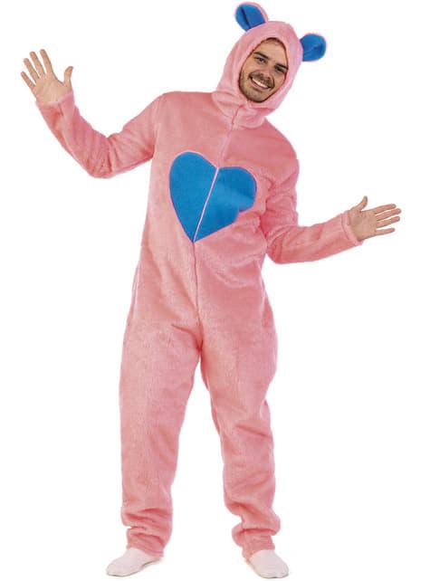 Disfraz de oso cariñoso rosa para adulto