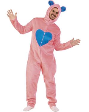 Kærlig bjørn kostume pink til voksne
