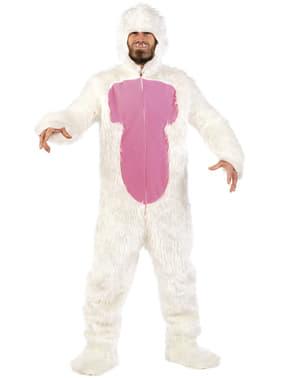 Disfraz de monstruo de la nieve crazy para adulto